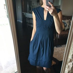 BCBG Navy dress with Pockets!